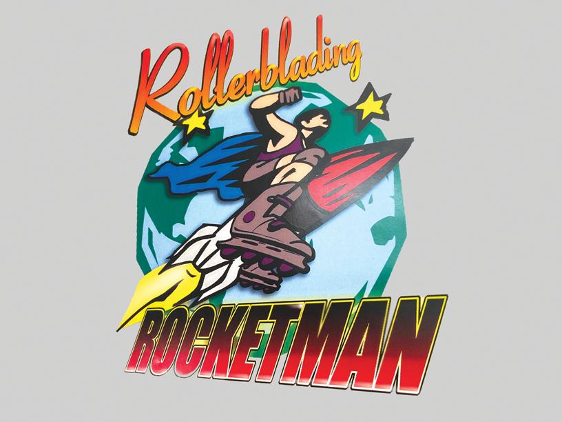 Rollerblading Rocketman